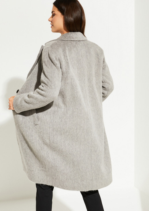 Wollmantel mit Fischgrät-Muster aus der Exklusive Edition