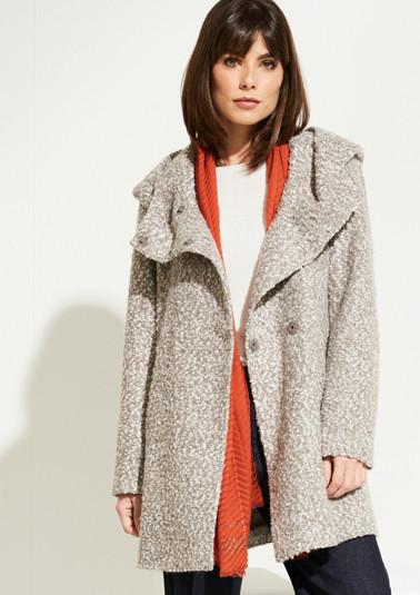 Manteau à capuche en maille bouclette de Comma