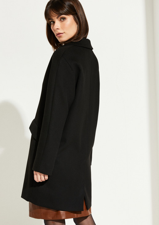 Weicher Mantel mit Gehschlitz