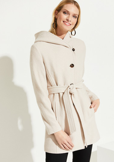 Long jacket with a large hood from comma