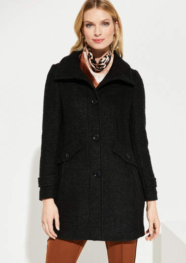 Bouclé coat with sophisticated details from comma