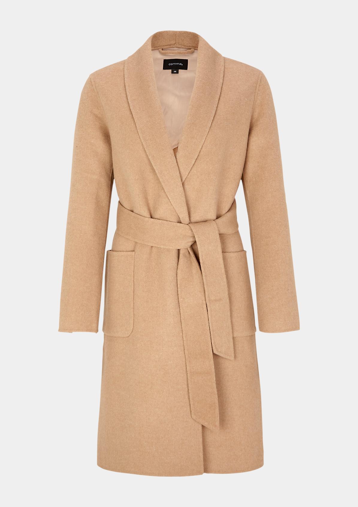 Mantel mit aufgesetzten Taschen
