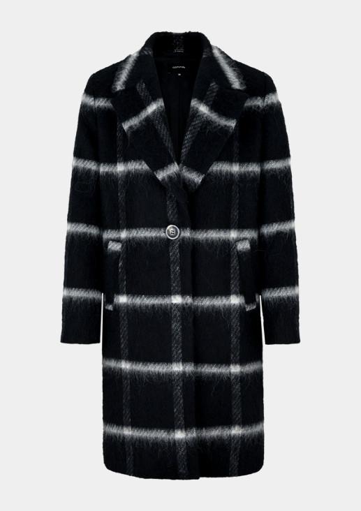 Mantel mit Fensterkaromuster