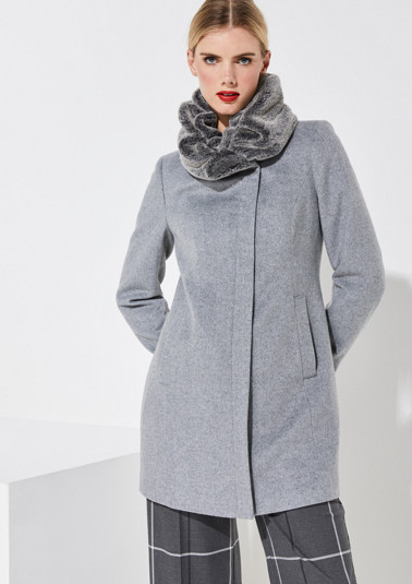 Soft winter coat with a herringbone pattern from comma