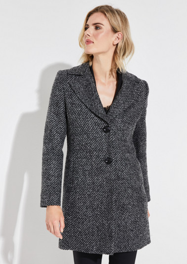 Paletot coat with a jacquard pattern from comma