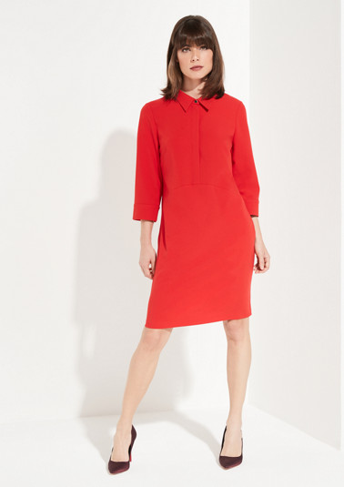 Shirt dress with 3/4-length sleeves from comma