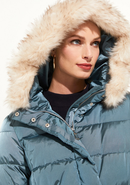 Warm down jacket with a hood from comma