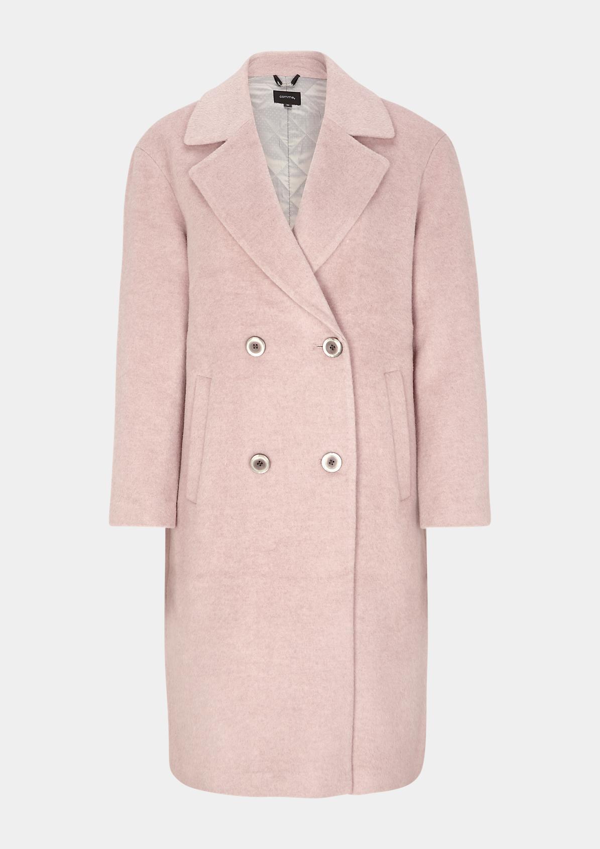Mantel mit Zweireiher-Knopfleiste