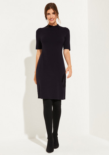 Fine knit dress with short sleeves from comma
