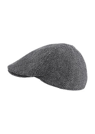 Flat cap in a wool blend from s.Oliver