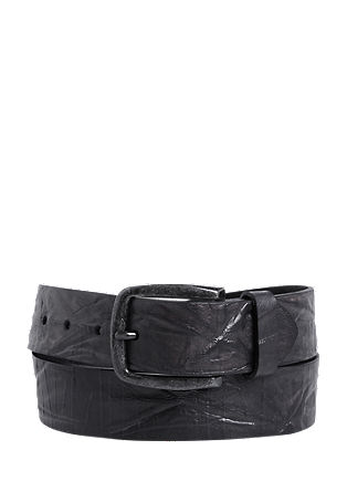 Leather belt with a distinctive texture from s.Oliver