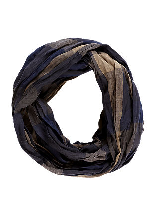 Check cotton snood from s.Oliver