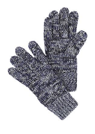 Handschuhe aus Melange-Garn