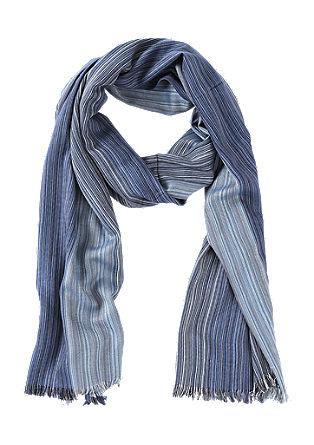 Sjaal met geweven strepen