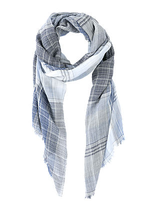 Scarf with woven checks from s.Oliver
