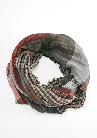 Checked snood from s.Oliver