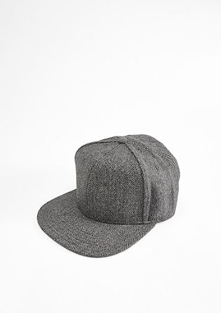 Cap with a herringbone design from s.Oliver