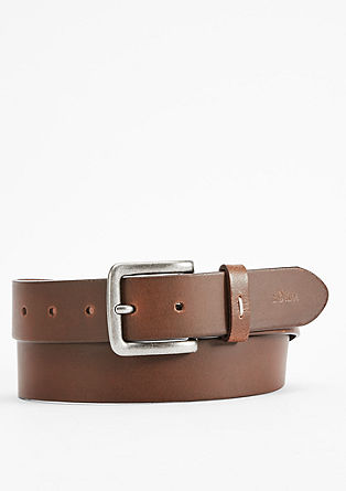 Smooth leather belt from s.Oliver