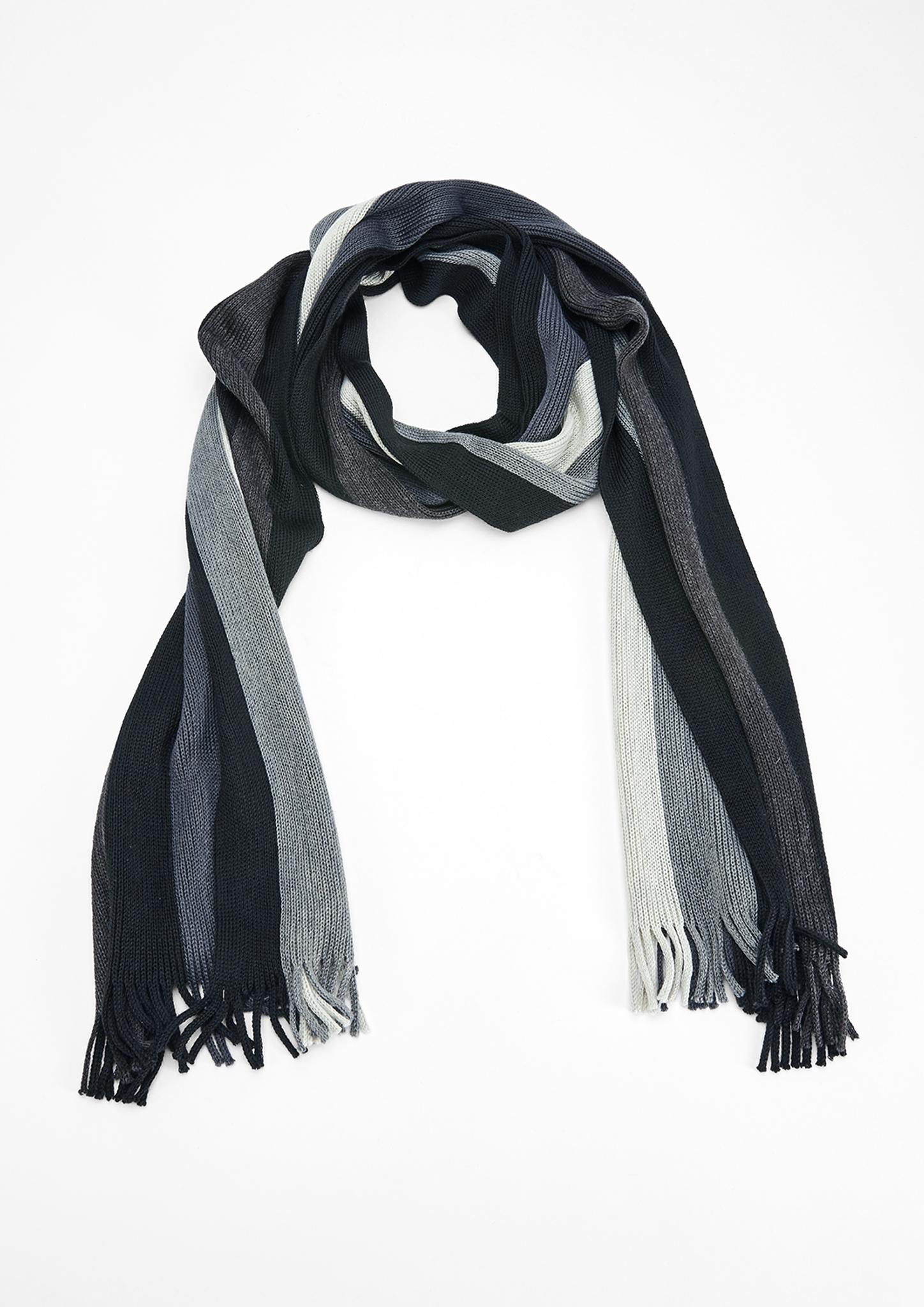 Streifenschal | Accessoires > Schals & Tücher | Grau/schwarz | 90% polyacryl -  10% wolle | s.Oliver
