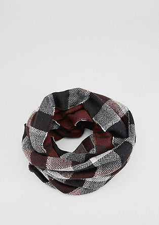 Snood made from double-faced woven fabric from s.Oliver