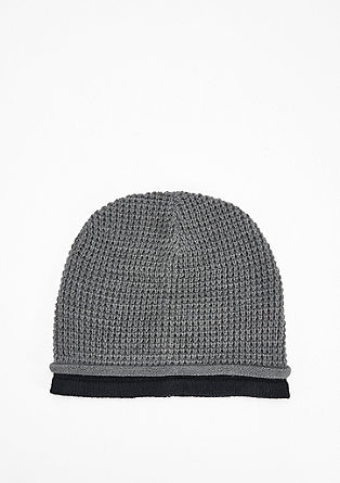 Textured knit hat from s.Oliver