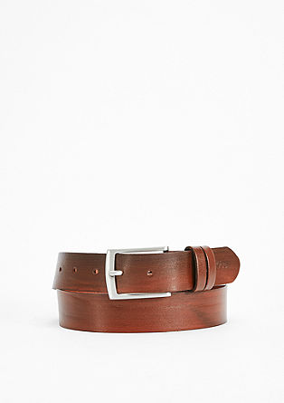 Wood-look leather belt from s.Oliver