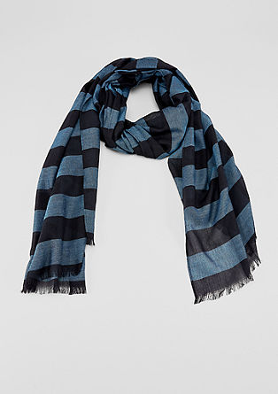 Scarf with horizontal stripes from s.Oliver