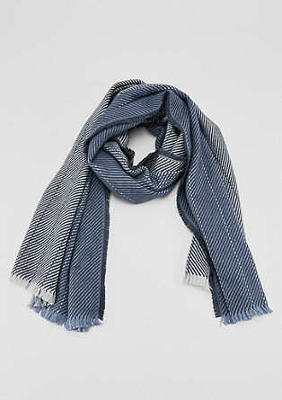 Woven scarf with fringing from s.Oliver