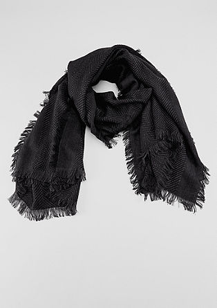 Woven scarf with a herringbone pattern from s.Oliver