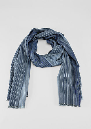 Scarf with woven stripes from s.Oliver