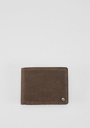 Portemonnaie in Veloursleder-Optik
