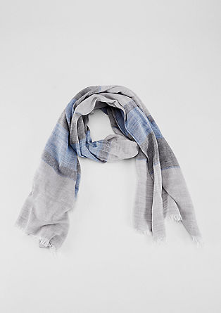 Striped viscose blend scarf from s.Oliver