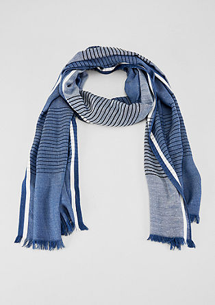 High-quality scarf with woven stripes from s.Oliver