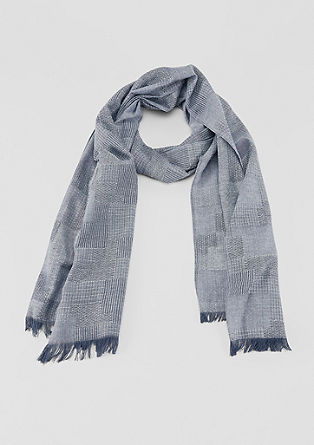 Mixed texture woven scarf from s.Oliver
