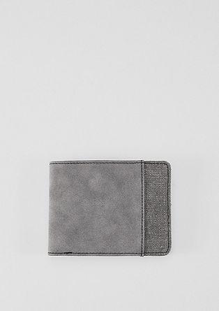 Portemonnaie mit Canvas-Detail