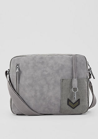 Small Messenger Bag im Fabric-Mix