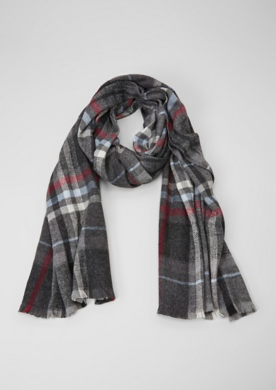 Woven scarf with checks from s.Oliver