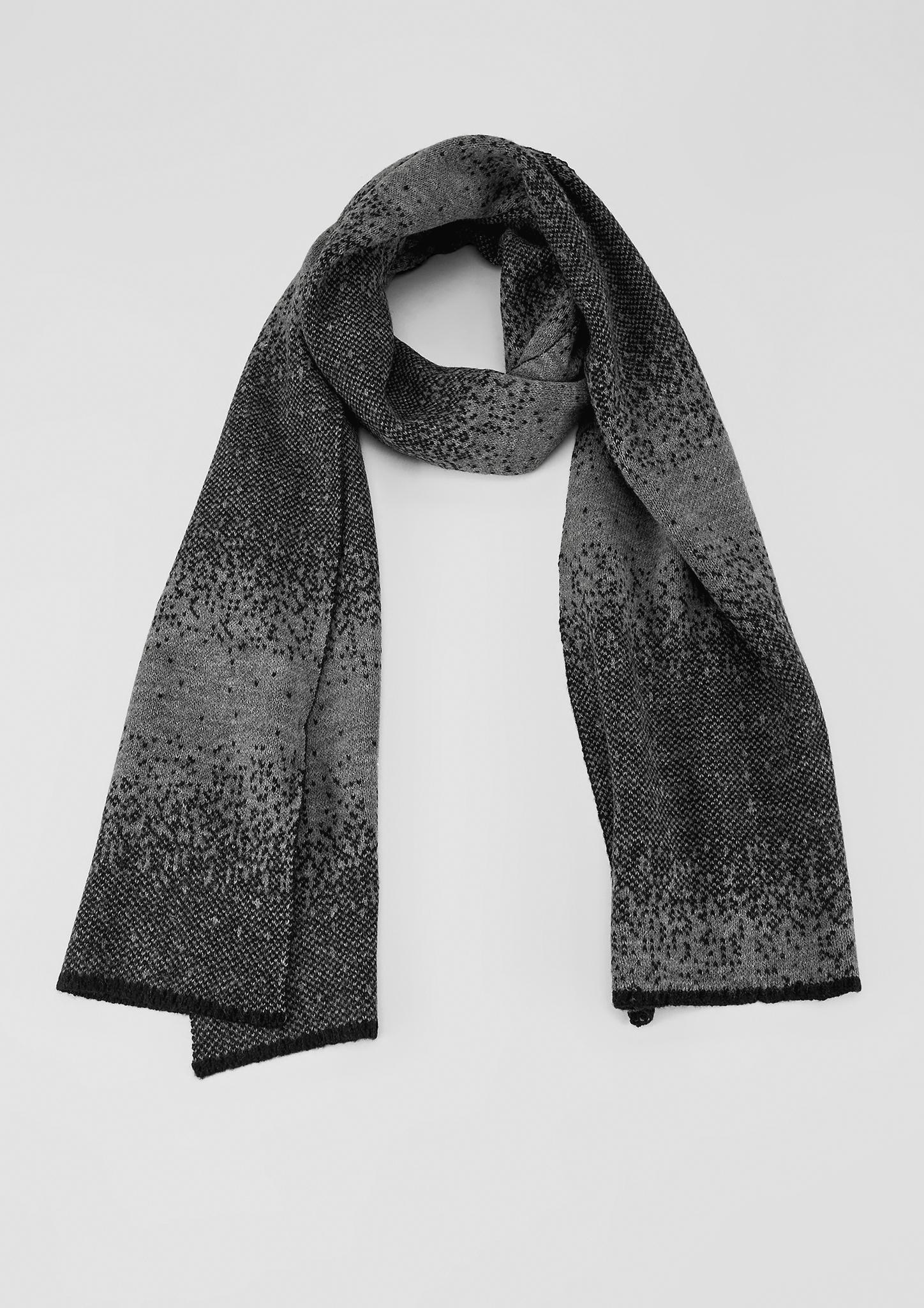 Schal | Accessoires > Schals & Tücher | Grau/schwarz | 100% polyacryl | s.Oliver