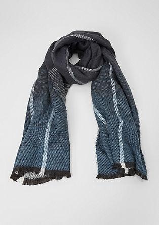 Zachte sjaal met gestructureerd motief