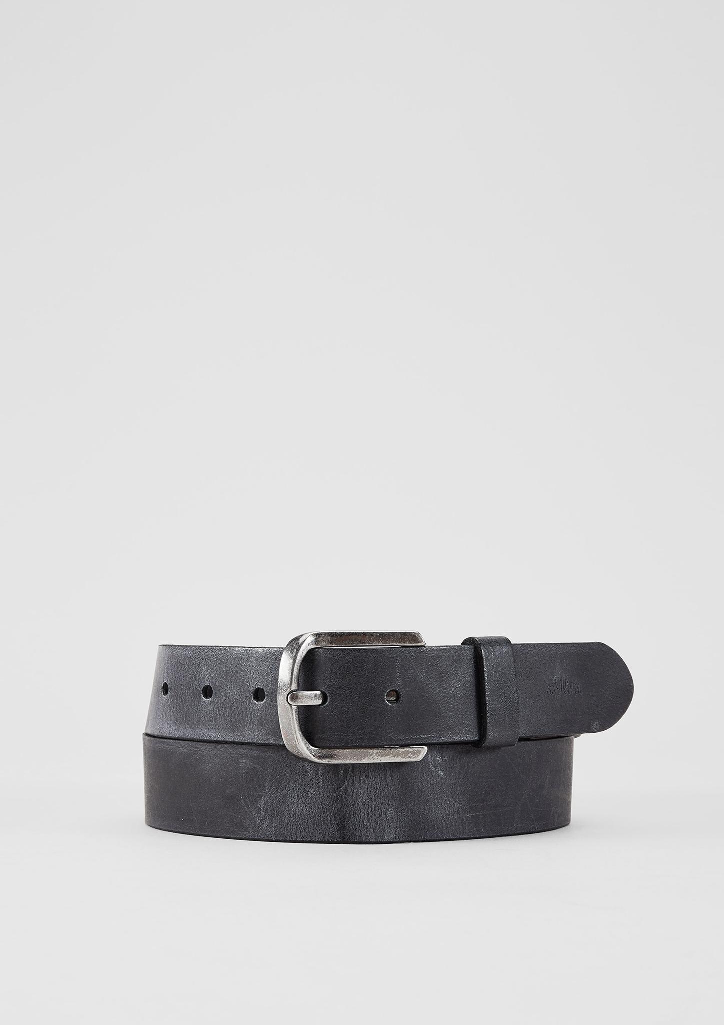 Gürtel | Accessoires > Gürtel > Sonstige Gürtel | Grau | 100% leder | s.Oliver