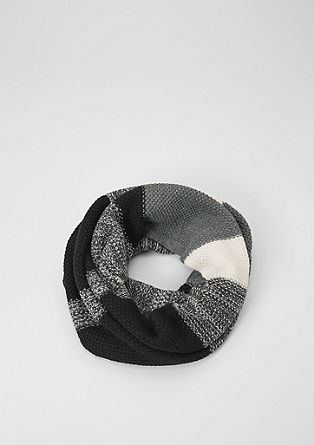 Snood with wide stripes from s.Oliver