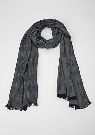 Geweven sjaal met balken