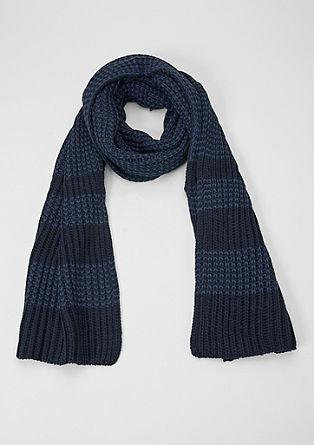 Rippstrick-Schal mit Streifen