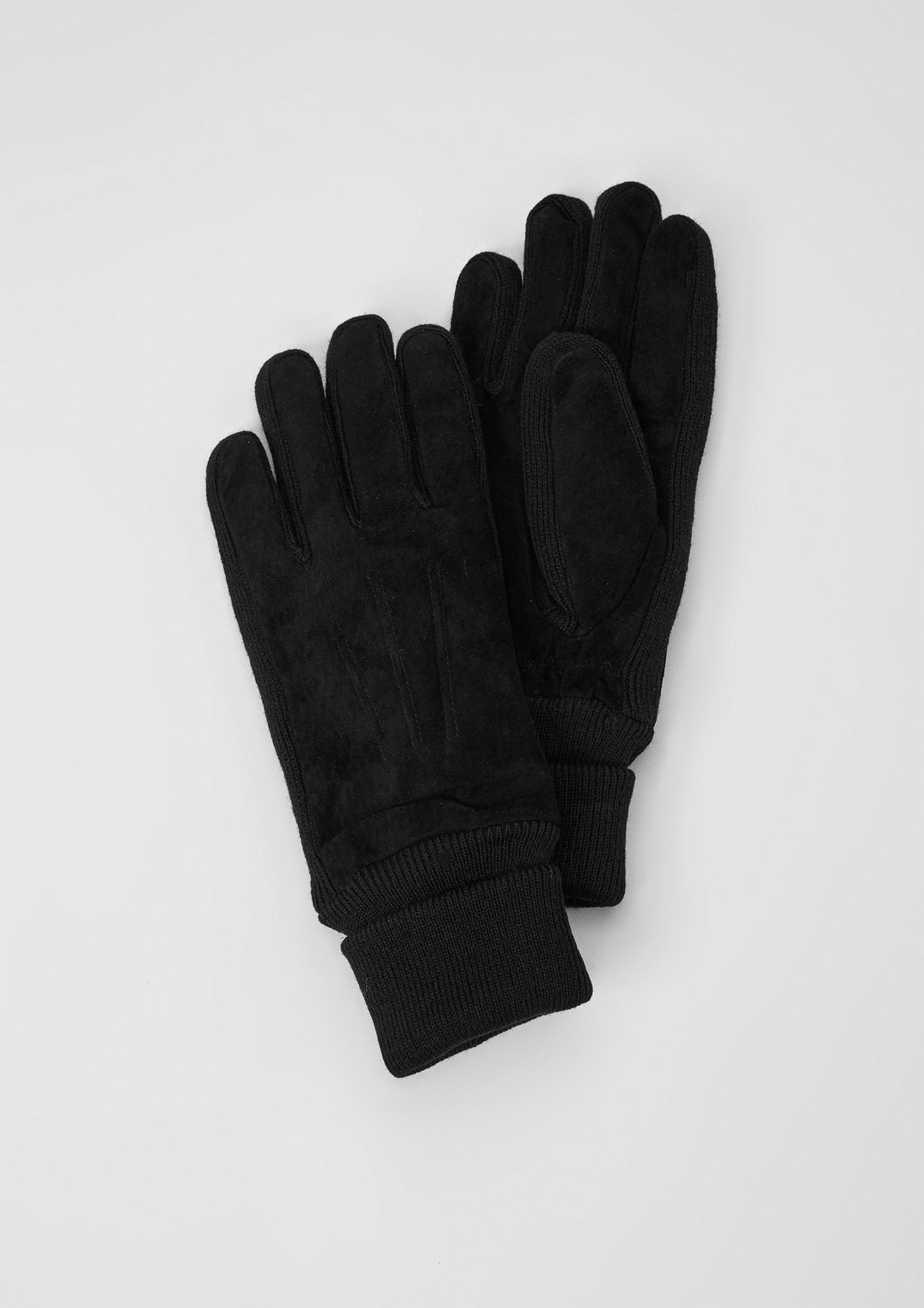 Lederhandschuhe | Accessoires > Handschuhe > Lederhandschuhe | Grau/schwarz | Oberstoff: 100% leder| garn 100% polyacryl| futter: 100% polyester | s.Oliver