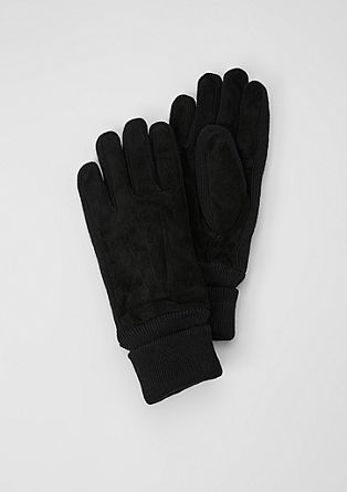 Suede gloves from s.Oliver