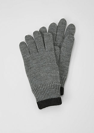 Knit gloves with fleece lining from s.Oliver