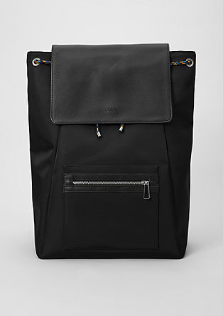 Spacious rucksack in a mix of materials from s.Oliver