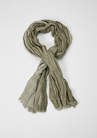 Scarf with a textured pattern from s.Oliver