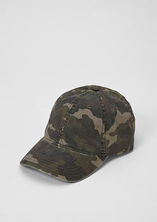 Cap with a camouflage design from s.Oliver