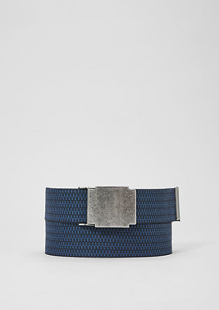 Woven belt with a plaque buckle from s.Oliver